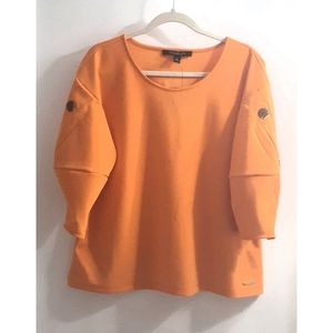 ANDREW MARC orange blouse